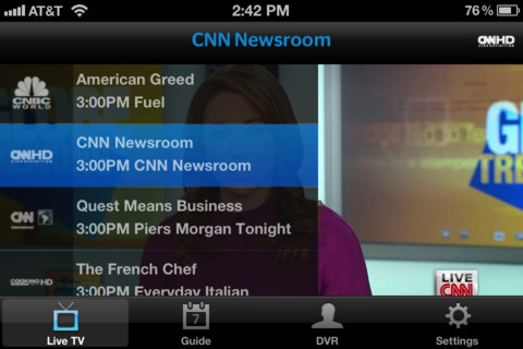 time warner cable s new iphone app brings live tv to the small rh techcrunch com Spectrum Time Warner Cable time warner cable dvr user guide
