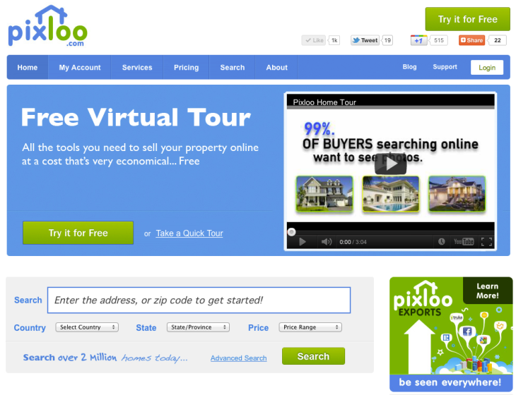 Pixloo Helps You Sell Your Home With Free Virtual Tours, Exports To ...