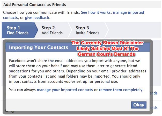 Facebook Already Made Friend Finder Changes Demanded By German Court
