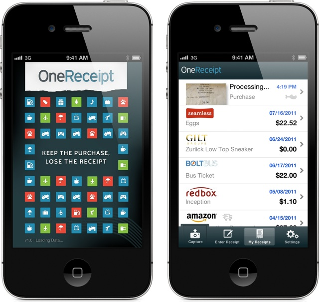 OneReceipt Launches iOS App For Scanning And Storing Those