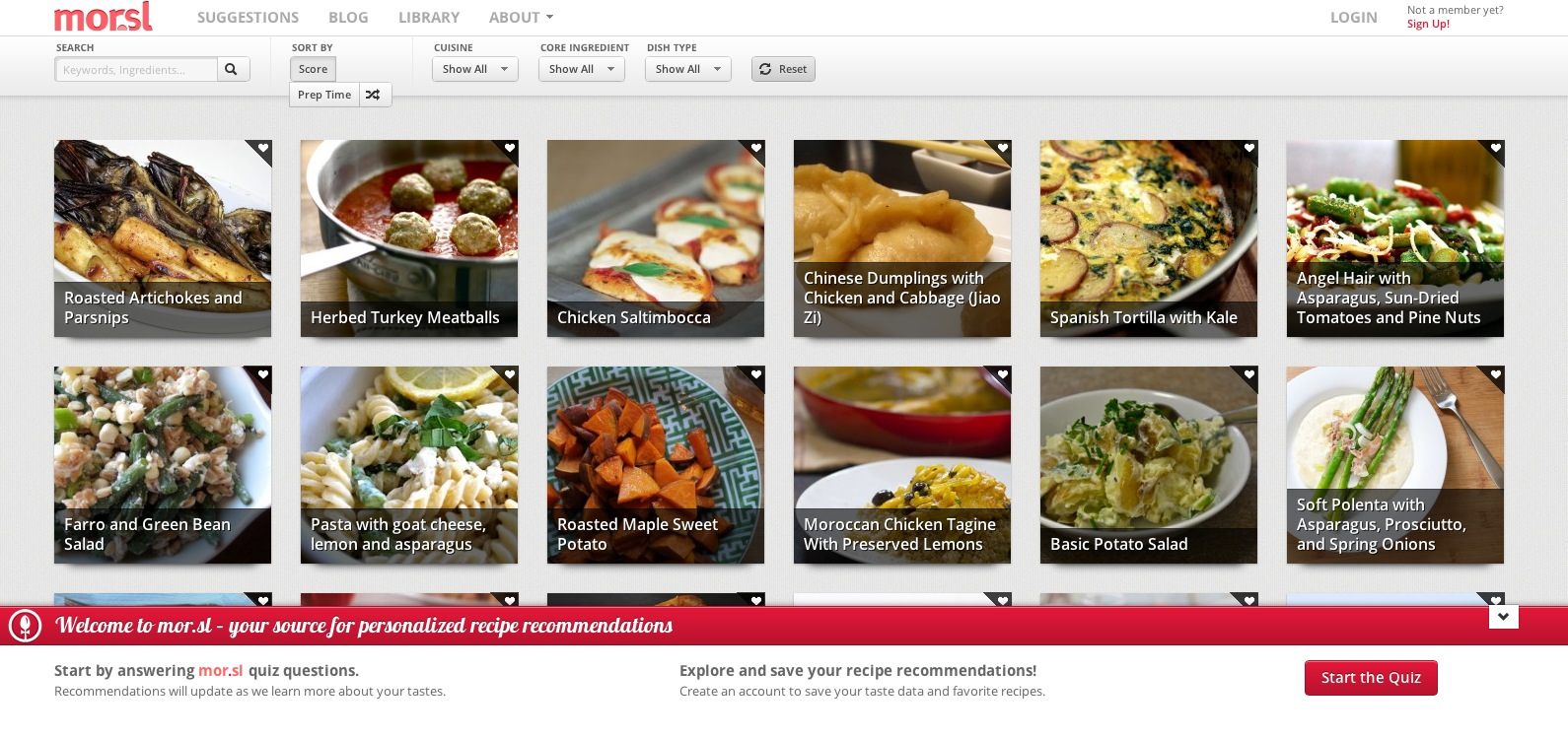 Mor offers recipe recommendations to hungry webonauts techcrunch mor learns your tastes and preferences your allergies and skill level and recommends recipes that will work for your everyday life forumfinder Image collections