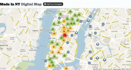 Easy Map Of New York City.Mayor Bloomberg Unveils The Made In Ny Digital Jobs Map For