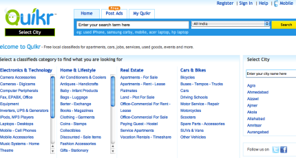 Quikr India S Spin On Craigslist Gobbles Up 32m From Warburg Pincus Ebay More Techcrunch