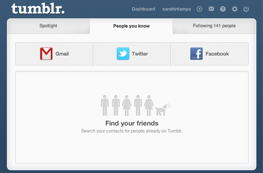 Tumblr's New Lookup Page Lets You Find Friends Via Facebook And
