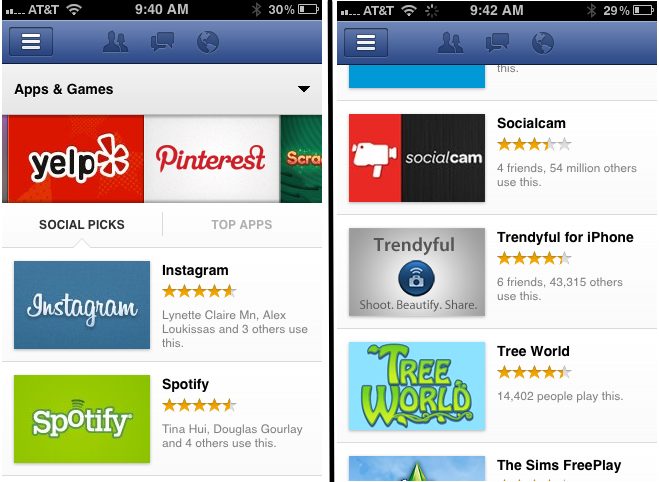 Facebook explains how app center recommendation works a blueprint facebook explains how app center recommendation works a blueprint for search techcrunch malvernweather Image collections