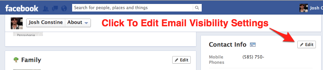 Facebook Hides Your Email Address Leaving Only @Facebook com
