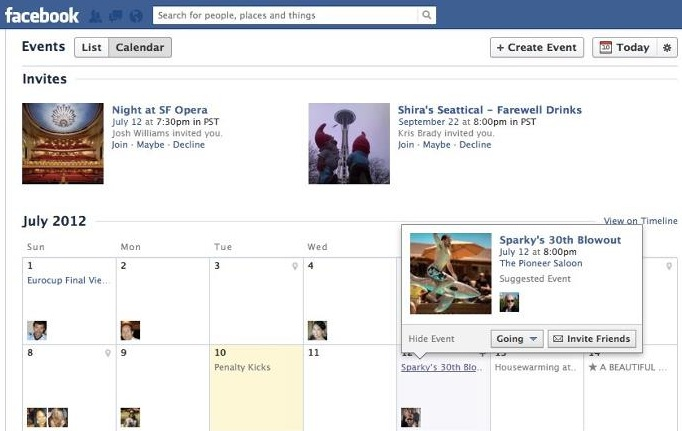 Facebook Finally Redesigns Events Adds Calendar And List Views So