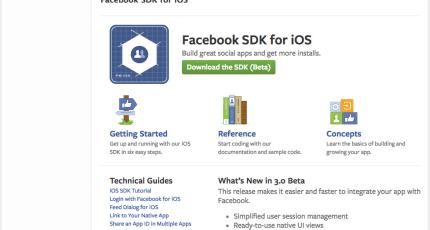 Facebook Launches New iOS Dev Center | TechCrunch
