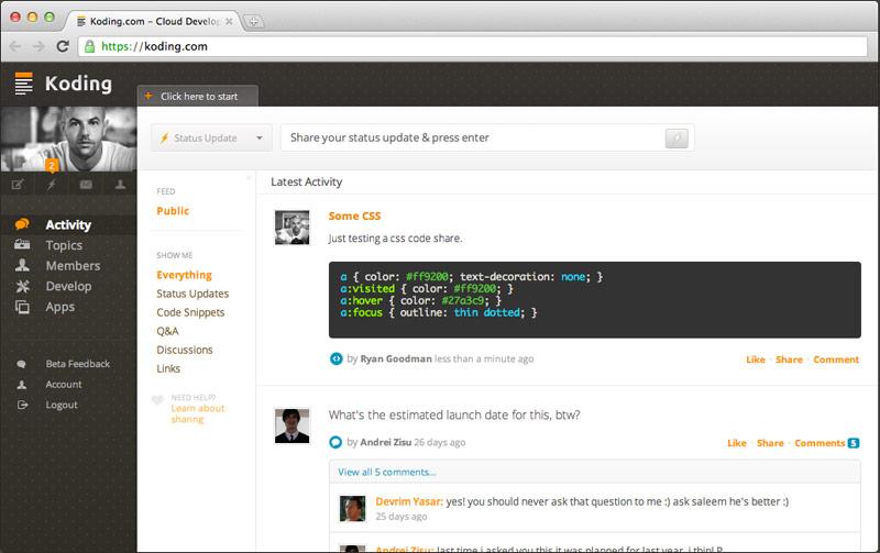 koding activity