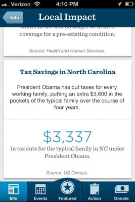 Ofa Smartphone App >> Obama Campaign Releases Mobile Voter Engagement App – TechCrunch