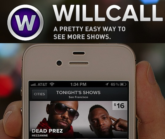 willcall sells you what you�re doing tonight launches web