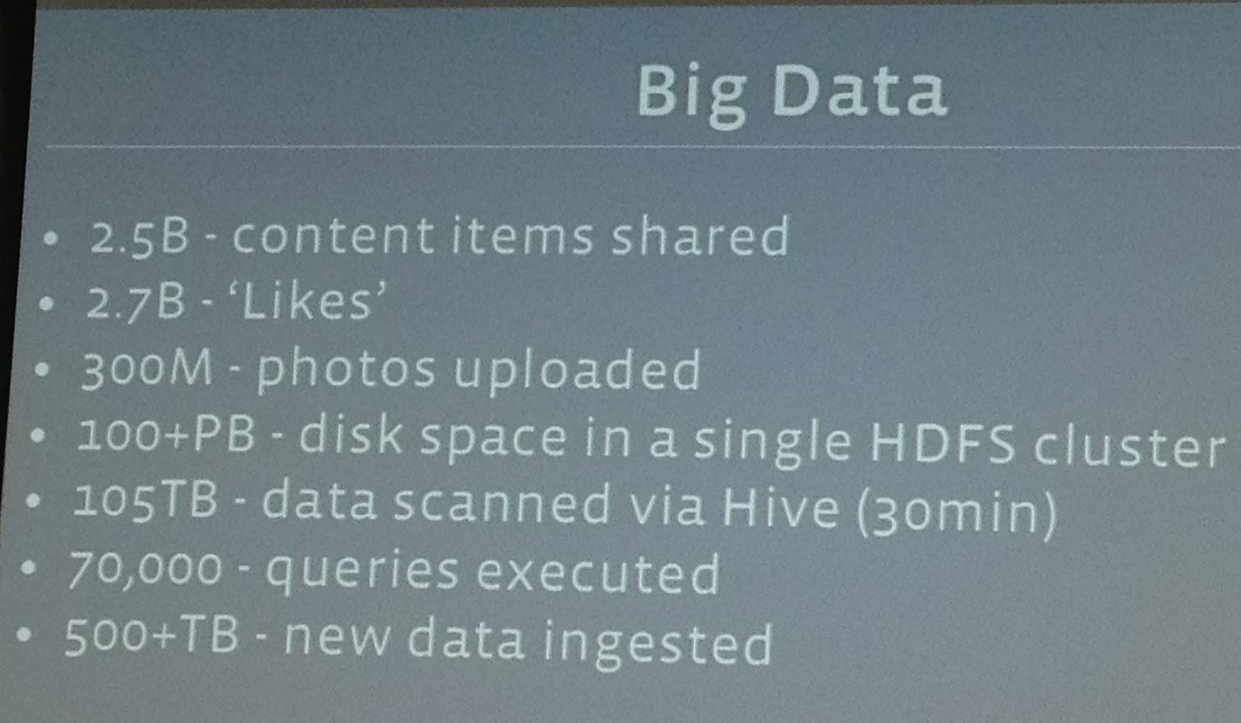 How Big Is Facebook's Data? 2 5 Billion Pieces Of Content And 500+