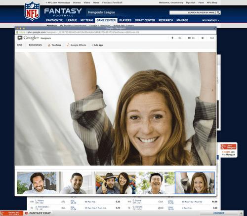 Take That, Yahoo Fantasy Football: NFL Adds Google+ Hangouts