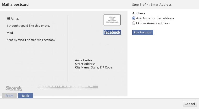 Как в фейсбуке поставить поздравительную открытку
