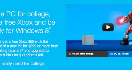 Back-To-School: Buy A PC, Get An Xbox | TechCrunch