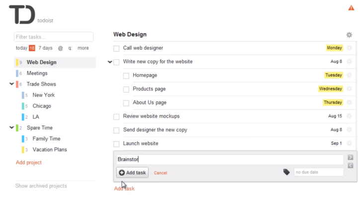 Task Manager Todoist Receives a Major HTML5 Update | TechCrunch