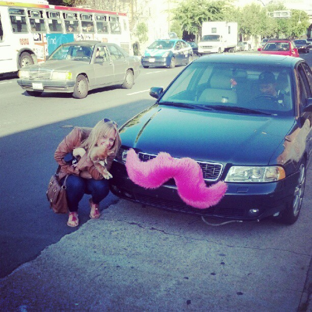 lyft s focus on community and the story behind the pink mustache techcrunch. Black Bedroom Furniture Sets. Home Design Ideas