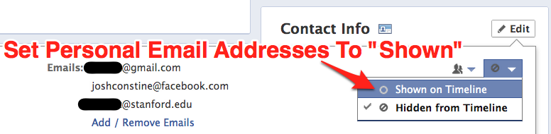 How To Undo Facebook Hiding Your Email Address Before Your Friends