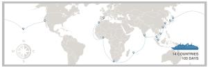 Unreasonable At Sea's around the world voyage