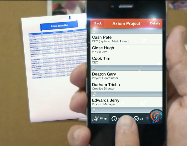 Ringya lets you snap photos of paper lists business cards to screenshotlistfrombulletinboard reheart Images