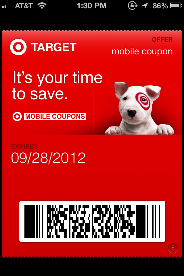 The Beginnings Of A Usable Mobile Wallet Target Brings Mobile Coupons To Apple S Passbook Techcrunch