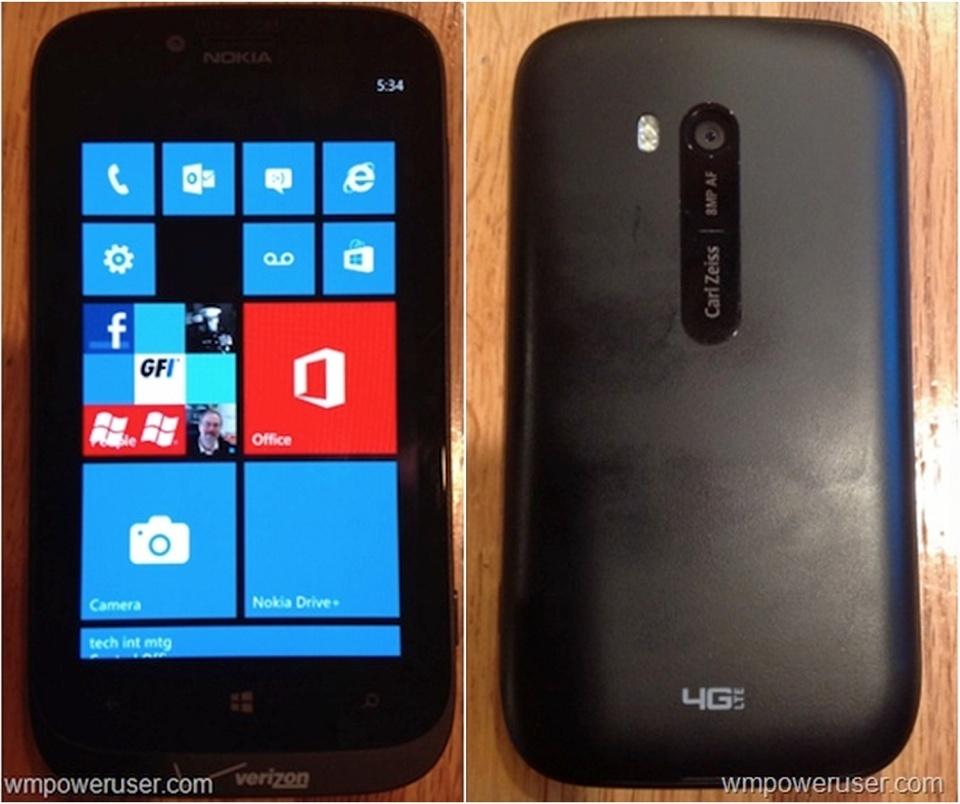 buy online d6b92 64774 Nokia's Not-So-Shy Lumia 822 Caught On Camera Clad In Verizon ...
