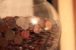 Jar of loose change by Tom Small