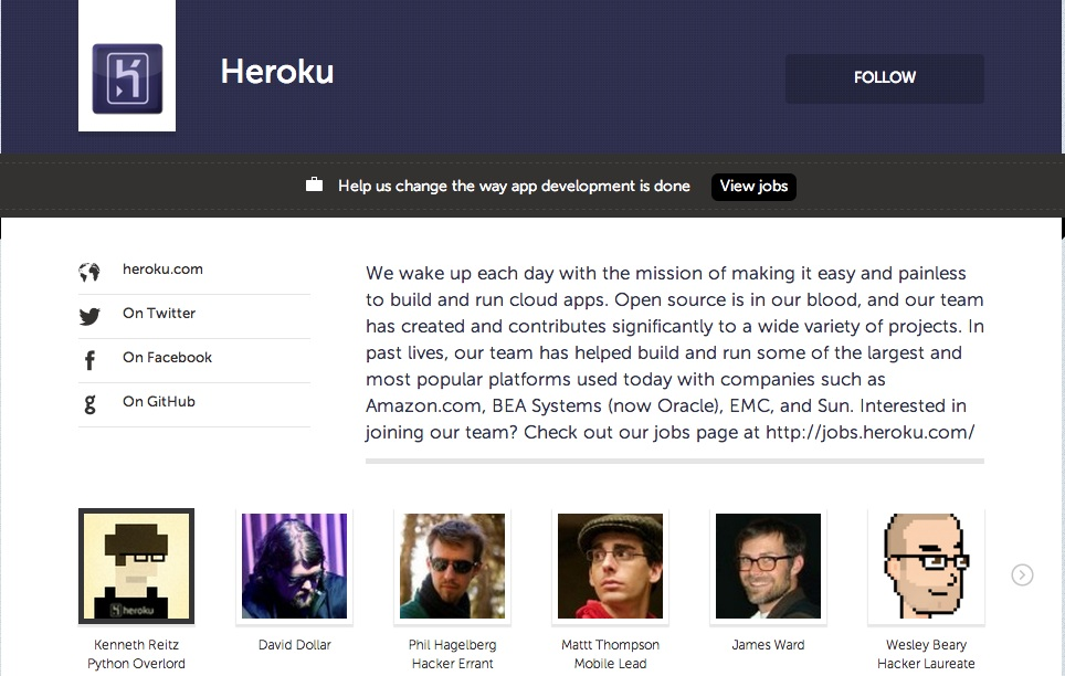 heroku screenshot