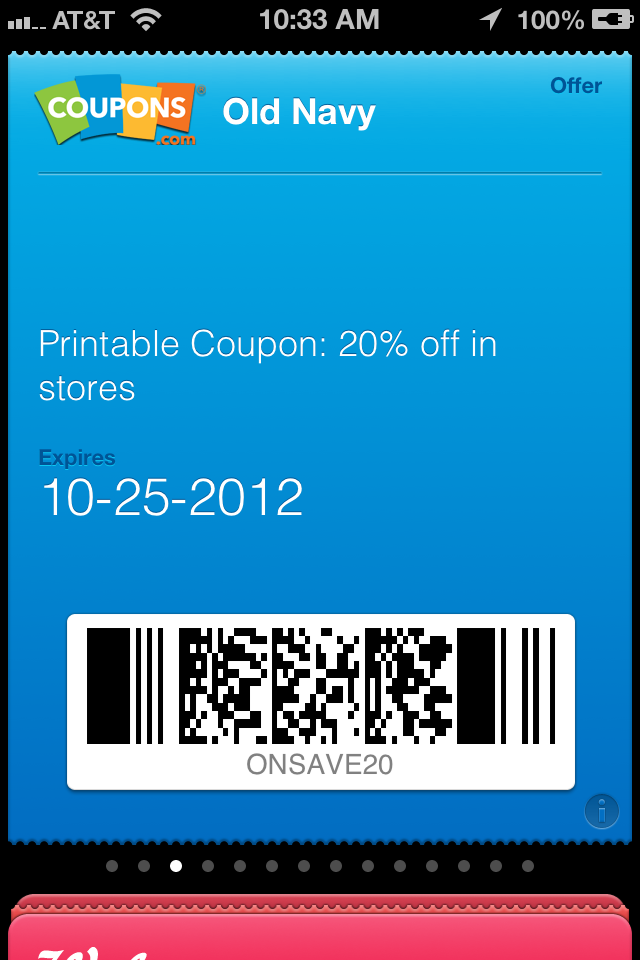 major retailers coupons