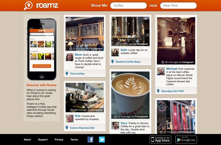 Roamz Brings Its Local Social Search Engine To The Web | TechCrunch