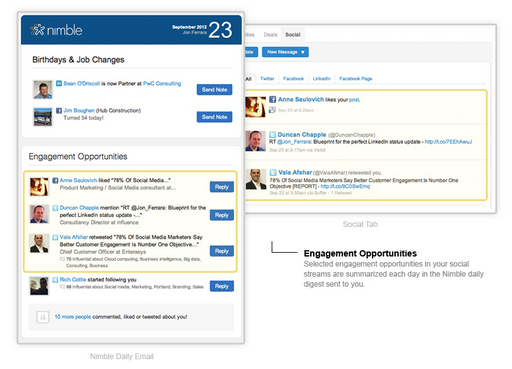 nimble now integrates with rapportive major social networks to bring context to your contacts techcrunch