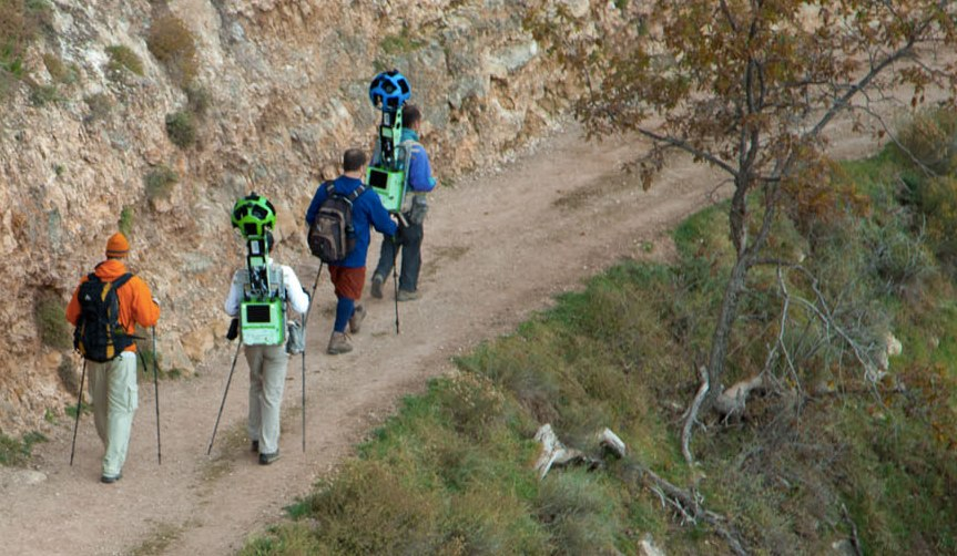 Google Takes Its Backpack Sized Trekker Street View Cameras To The Grand Canyon Techcrunch