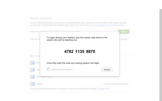 Google's Chrome Remote Desktop Screen Sharing Service Comes
