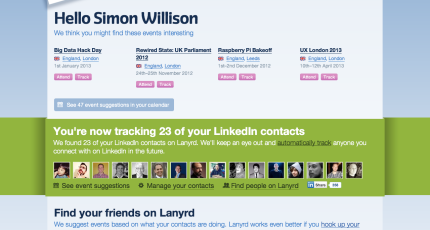 Lanyrd Jumps Into The Space Left By LinkedIn's Events App