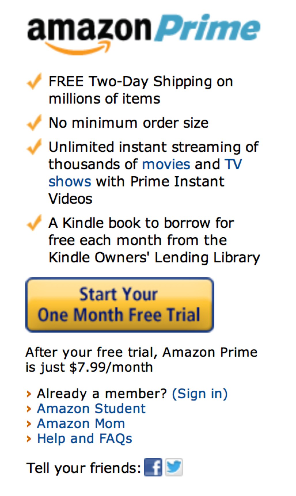 Amazon Confirms It's Ended $7 99 Monthly Prime Trial Weeks After