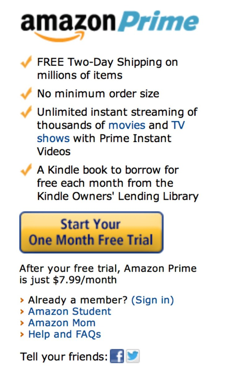 Amazon Confirms It S Ended 7 99 Monthly Prime Trial Weeks