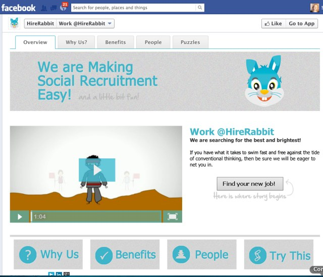 HireRabbit Debuts Its Facebook-Based Social Recruiting Platform ...