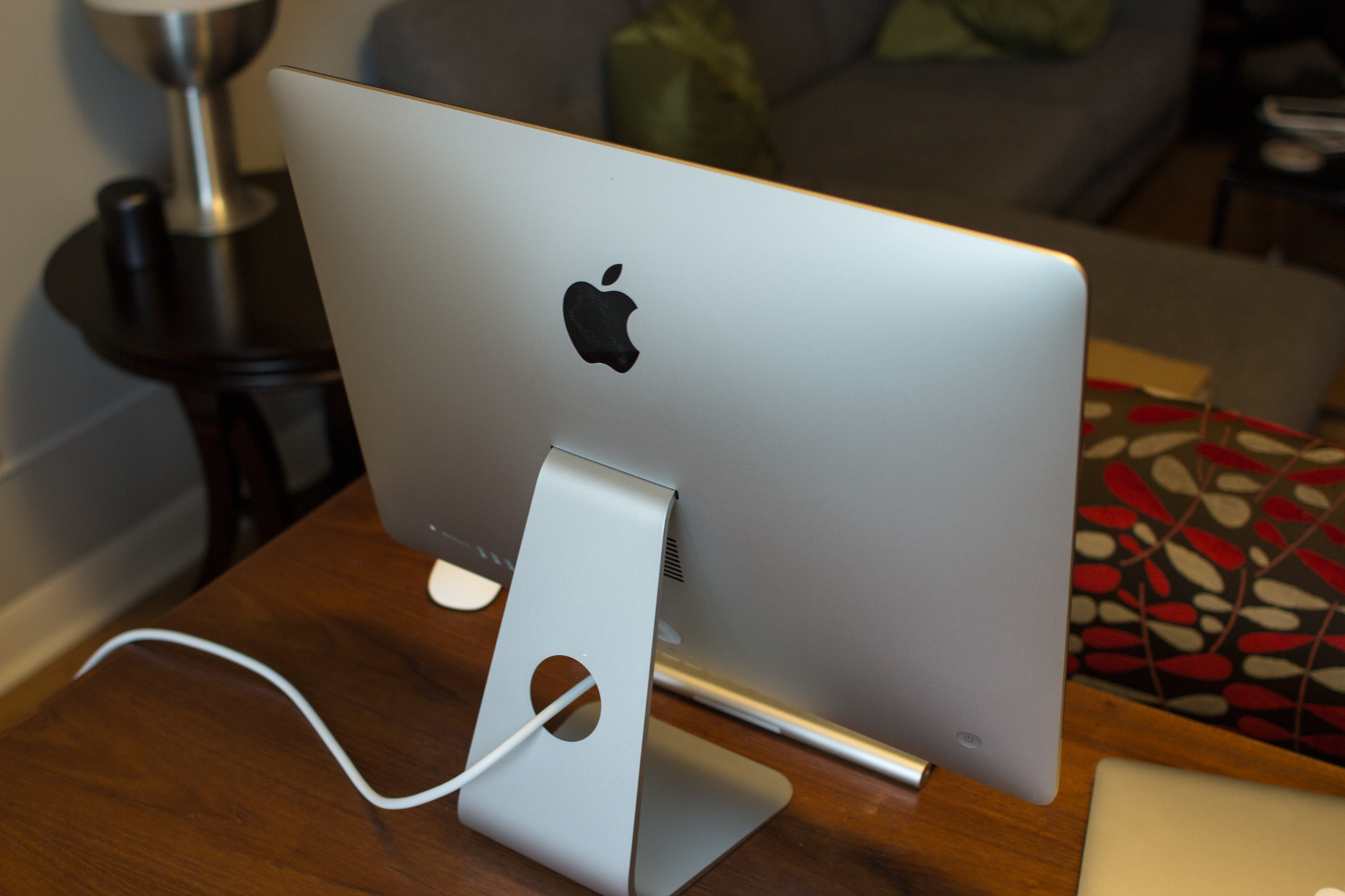 21.5-inch 2012 iMac, from the back