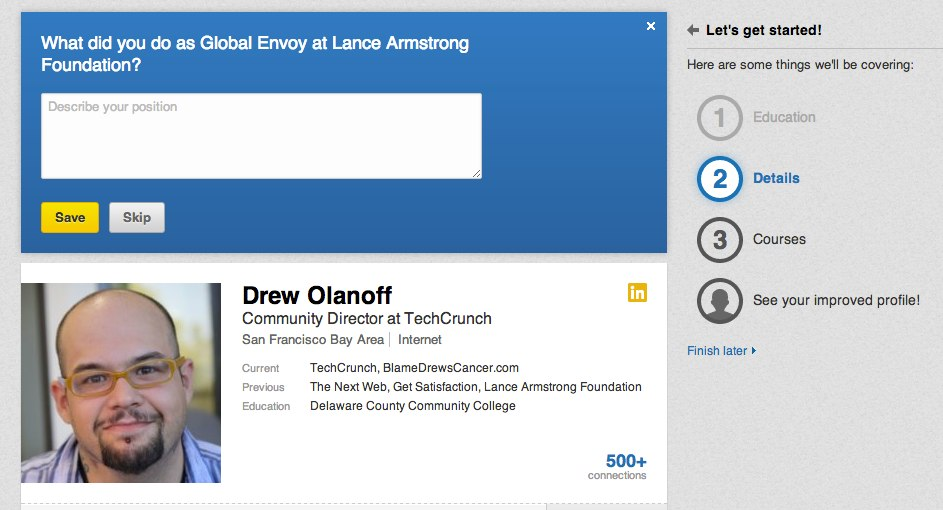 My Profile Linkedin Techcrunch