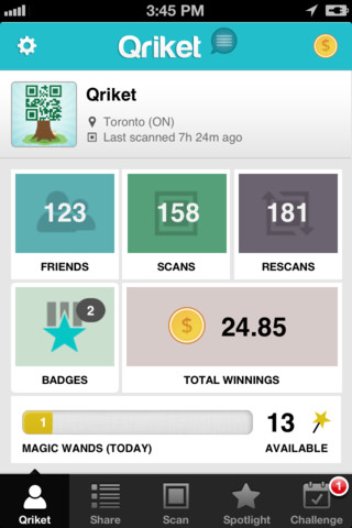 Meet Qriket, The iPhone App That Makes Scanning QR Codes Pay