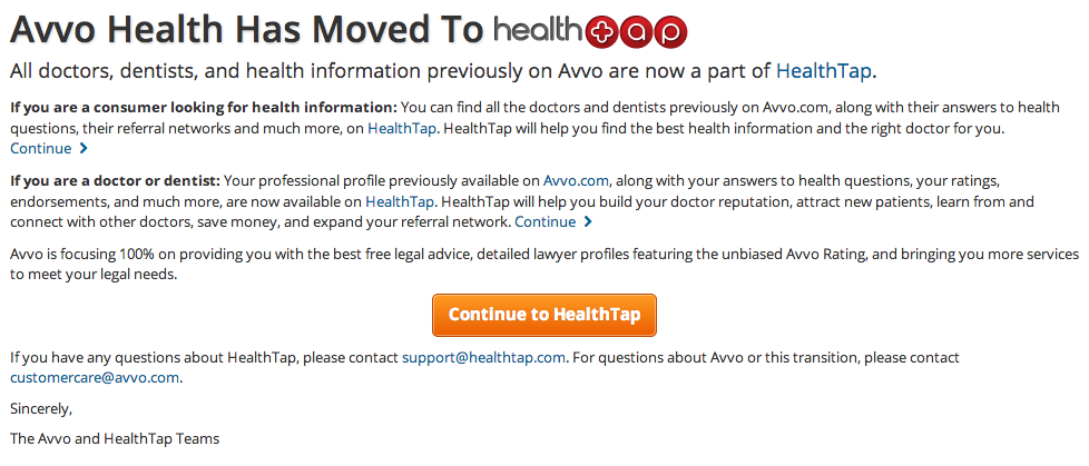 HealthTap Buys Avvo's Health Business, Looks To Become The