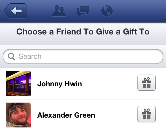 Facebook Gift Selector Done