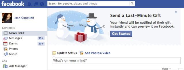 Facebook Holiday Gifts