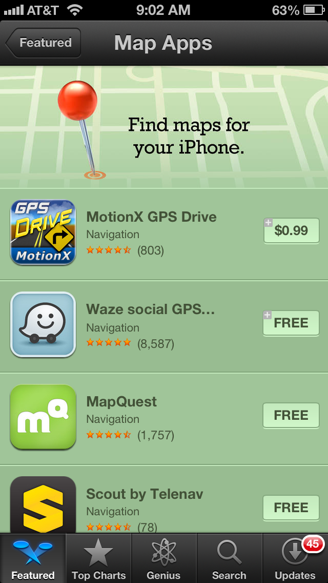 Shocker: Google Maps Surges To Top Free App In The App Store In Just on
