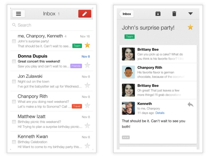 Google Launches Gmail 2 0 On iOS With New Design, Support