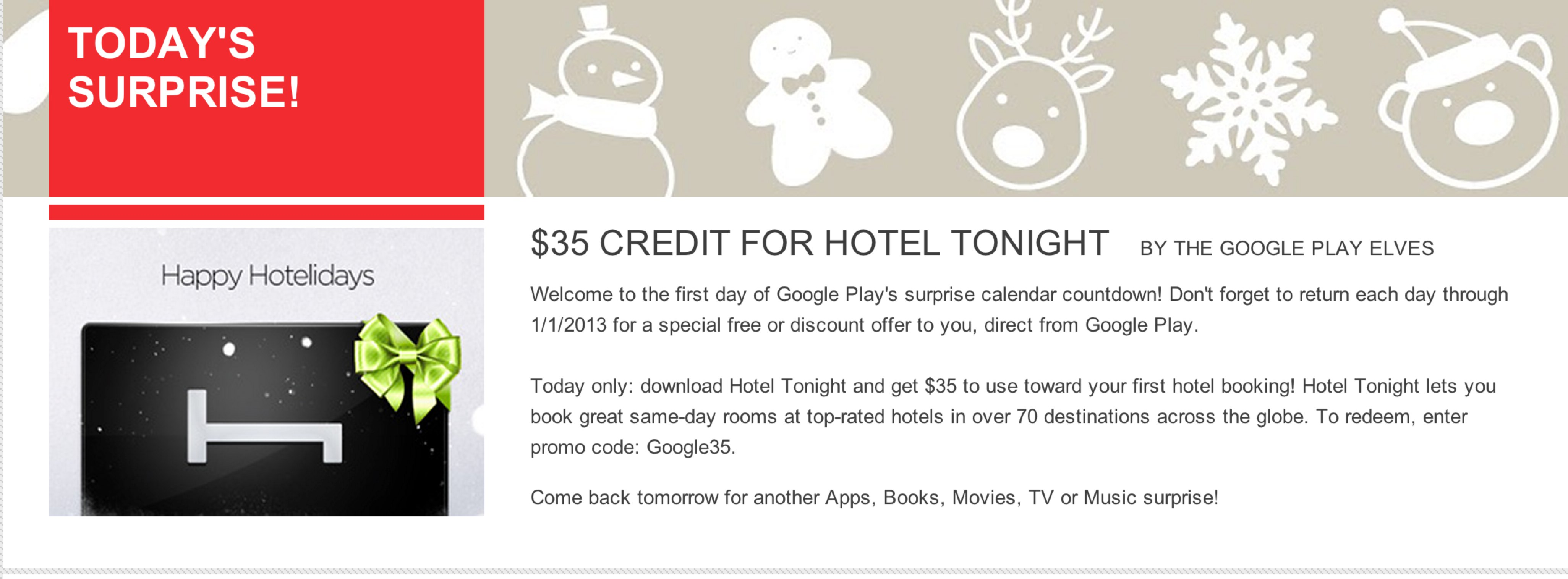 "Google Launches ""Surprise Calendar"" In Google Play To Give"