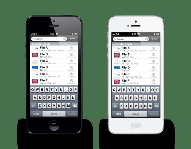 Openera iPhone App File Search