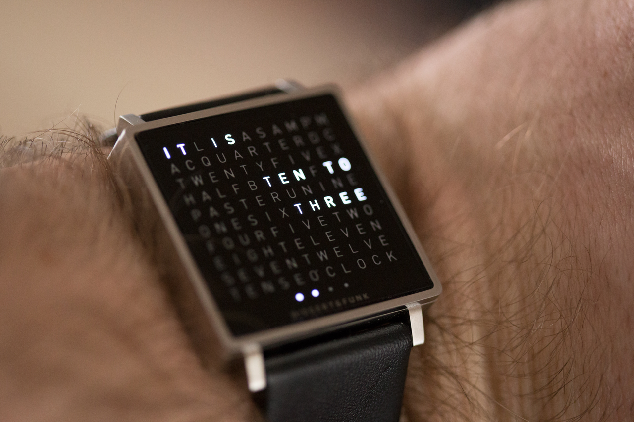 the qlocktwo w by biegert funk is a timepiece for