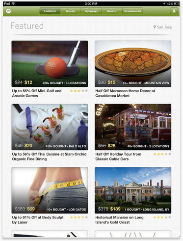 Seeking More Daily Deal Traction, Groupon Updates Its iPad