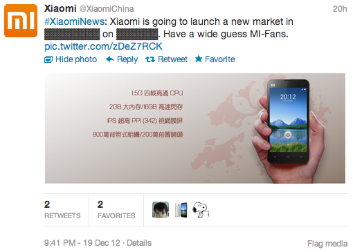 Xiaomi Twitter